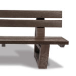 Plaswood recycled plastic fully moulded bench details