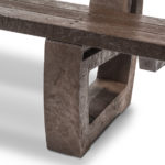 Plaswood recycled plastic fully moulded bench seat details