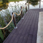 Recycled plastic decking for jetty