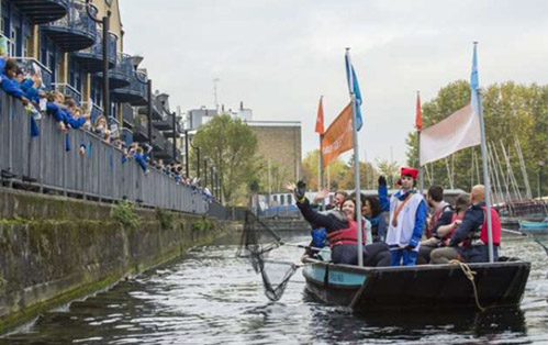 Plastic Boat Launched at Millwall Docks