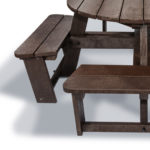 Plaswood group family hero round picnic table seat detail