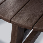 Plaswood group family hero round picnic table details