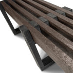 Plaswood recycled plastic edge bench details