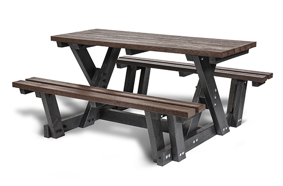 Plaswood HERO Access Recycled Plastic Picnic Table