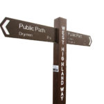 Plaswood Recycled Brown Plastic Finger Posts Detail