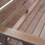 Plaswood Sloper Brown Recycled Plastic Bench Detail