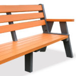 Plaswood Sloper Orange Recycled Plastic Bench
