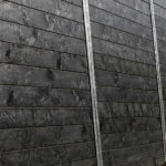 Plaswood close board recycled plastic fencing lumber detail