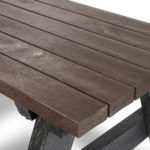 Plaswood Hero Brown a Frame Table Adult Detail 2m