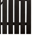 Plaswood Recycled Plastic Black Single Gates Detail