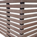 Plaswood Recycled Plastic Brown Post and Rail Fencing Details