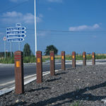 Recycled Plastic Banded Bollards