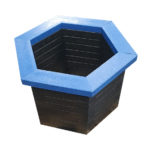 Plaswood group hexagon recycled plastic planter detail
