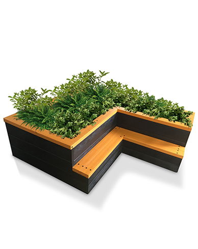 Recycled raised bed seat