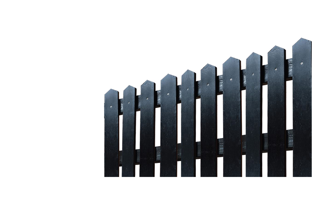 Plaswood Black Recycled Plastic Fencing