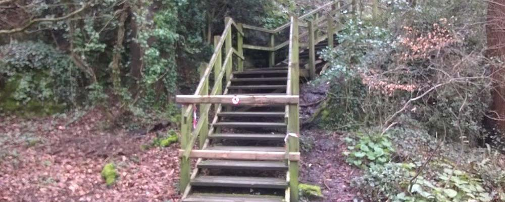 Plaswood group Anglesey stairway project