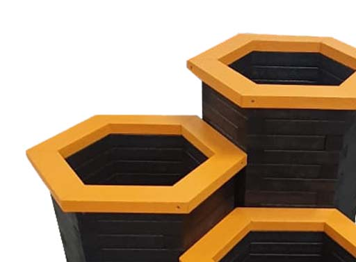 Plaswood Plastic Planters The Hive Range