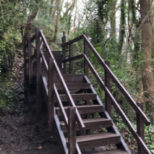 Plaswood recycled plastic Anglesey Stairway