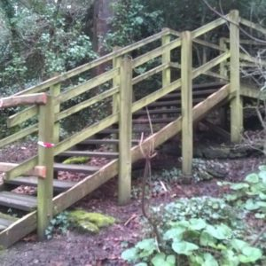 Plaswood recycled plastic Anglesey stairway project