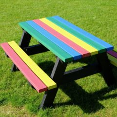 Plaswood recycled plastic benches coloured