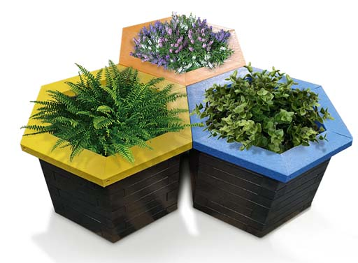 Plaswood Recycled Plastic Planters The Hive Range