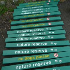Plaswood recycled plastic signs