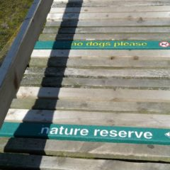 Plaswood recycled plastic signs Aberlady bay
