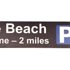 Plaswood recycled plastic signs blade