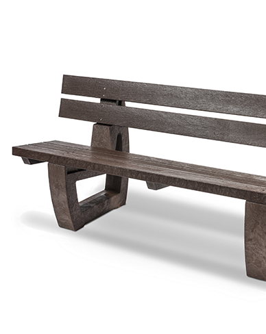 Plaswood Fully Moulded Bench