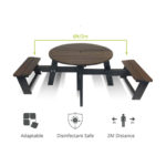 Social Distancing Picnic Table