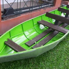 Plaswood recycled plastic seating boat