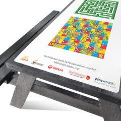 Plaswood recycled plastic activity table
